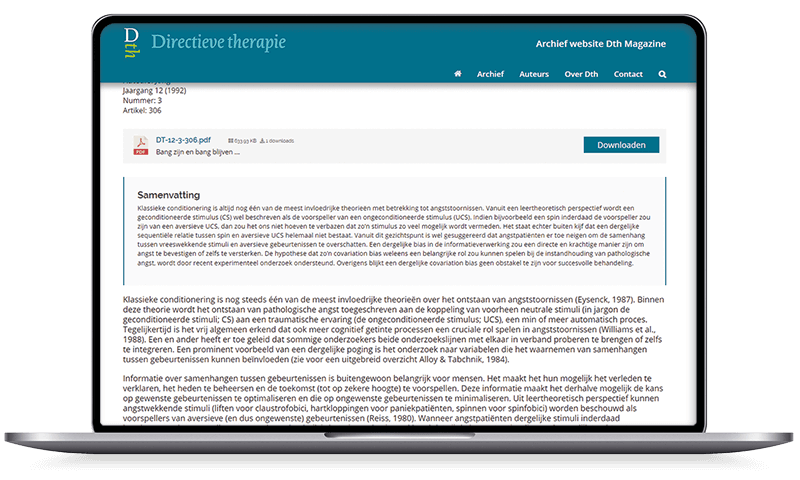 Directieve Therapie, Voorschoten | Multimediafabriek