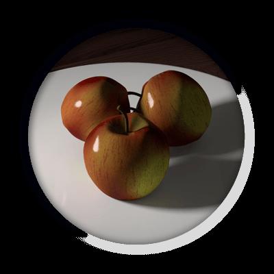 3D render appels | Multimediafabriek